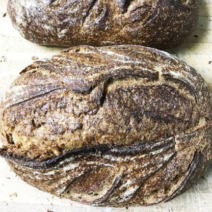 Oval Whole Grain Unsliced Bread