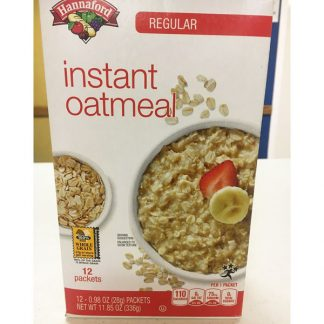Oatmeal Instant - 12 Packets