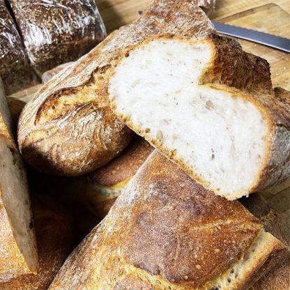 Peasant Bread Halves