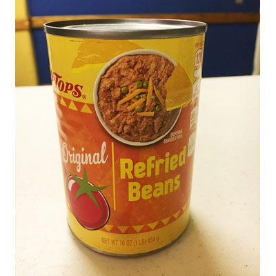 Refried Beans Can
