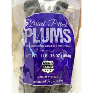 Dried Pitted Plums Bag